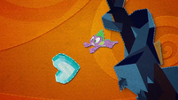 Spike and Crystal Heart fall out of the sky BFHHS5