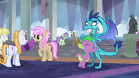 Spike hugging Princess Ember S8E1