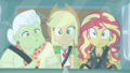 Sunset, Applejack, and Granny's eyes go wide CYOE5b.png
