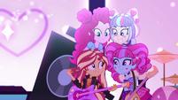 Sunset, Pinkie, and PostCrush get together EGSBP
