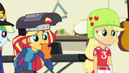 Sunset and AJ worried about Rarity EG3