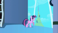 Twilight standing by tower window S1E01