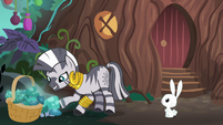 Zecora picks mushrooms outside her hut S9E18