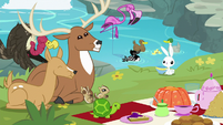 All animals eating food except Angel S8E4