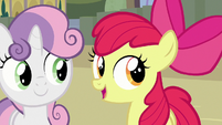 Apple Bloom inviting Terramar to Equestria S8E6