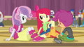 Cutie Mark Crusaders in the gymnasium EG2.png