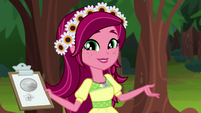 Gloriosa --go over some camp safety rules-- EG4