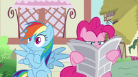 Rainbow Dash's eyes suddenly widen S7E18
