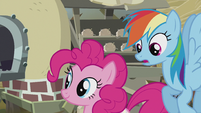 Rainbow notices Pinkie's cutie mark S5E8