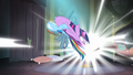 Rainbow trying to pull Twilight out of the comic book S4E06.png