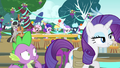 Rarity and Spike leaving the party S4E23.png