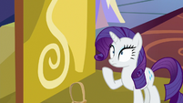 Rarity drops the baskets on the ground S9E19