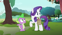 Rarity sees something in the distance S4E23