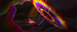 Sonic rainboom near rainbow airship (new version) MLPTM