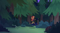 Sunset Shimmer running into the forest EG4