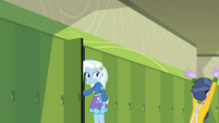 Trixie looking at the fleeing Micro Chips EGFF