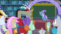 Trixie welcomes the students to class S8E15