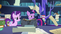 Twilight Sparkle slightly annoyed at Spike S7E25