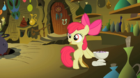 Apple Bloom looking away from the potion bowl S2E6