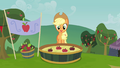 Applejack about to bob for apples S3E08.png