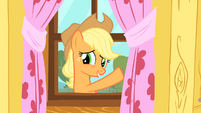 Applejack waving through window S01E18