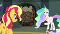 Celestia next to the archives' mechanical catalog EGFF.png