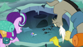 Changelings chasing Thorax through the tunnel S6E26.png