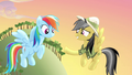 Daring Do extends hoofshake to Rainbow Dash S4E04.png