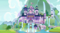 Exterior view of School of Friendship S8E22
