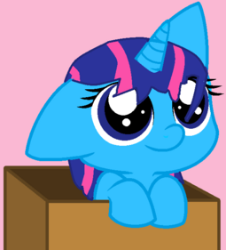 FANMADE Bluelighting OC filly in box