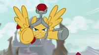 Flash Magnus soaring toward Lord Tirek S9E24