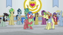 Flim giving unicorn stallion a diploma S8E16