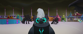 Grubber looking blankly at Tempest MLPTM