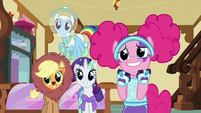 Main ponies excited for Fluttershy S5E21