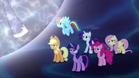 Mane Six worried about Princess Luna S5E13
