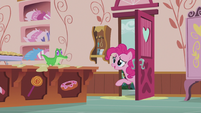 Pinkie at the door -Could you take over for a bit-- S5E8