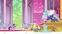 Princess Twilight addressing Princess Celestia EGFF