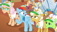 "Rainbow ""fancy suites and rollercoaster rides?"" S8E5"