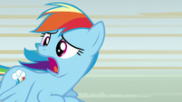 "Rainbow Dash ""anypony seen Scootaloo?"" S8E20"