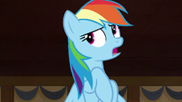 "Rainbow Dash ""she was only in a rush because"" S7E18"