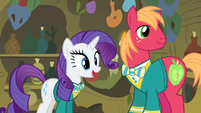 Rarity 'you'd even appear on stage!' S4E14