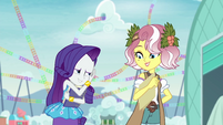 Rarity embarrassed by Vignette's words EGROF