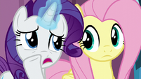 Rarity whispering --better luck with the baby-- S6E1