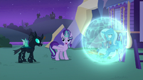 Starlight Glimmer introduces Trixie to Thorax S6E25