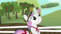 Sweetie Belle passes box on to Apple Bloom S6E15