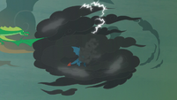 Torch and green dragon follow Flash into the cloud S7E16