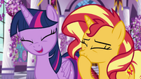 Twilight and Sunset laughing at Luna EGFF