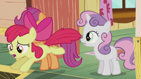 Apple Bloom chases after Diamond Tiara S5E18