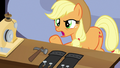 """Applejack """"puttin' holes in the clothes on purpose?!"""" S7E9.png"""