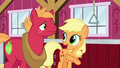 """Applejack """"we ran into Filthy Rich in town"""" S6E23.png"""